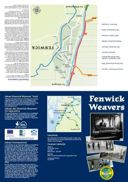 Fenwick Weavers' Co-operative heritage trail leaflet front and back by MGH Consultants