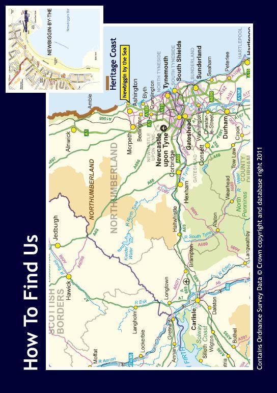 Group travel leaflet for Newbiggin Maritime Centre