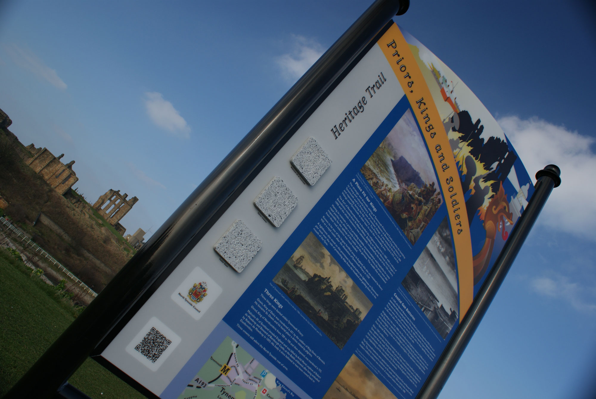North Tyneside Coastal Heritage Trail for North Tyneside Council around Tynemouth, Cullercoats and Whitley Bay
